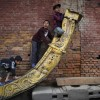 Spielende Kinder in Bhaktapur, Nepal (Keystone/AP Photo/Niranjan Shrestha)
