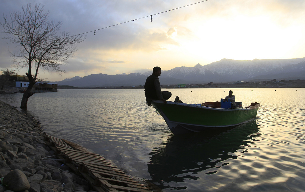 Auf dem Qargha See in Kabul, Afghanistan (Keystone/AP Photo/Jawad Halali)