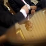 Ungewöhnlicher Blick auf Barack Obama (Keystone/AP Photo/Pablo Martinez Monsivais)