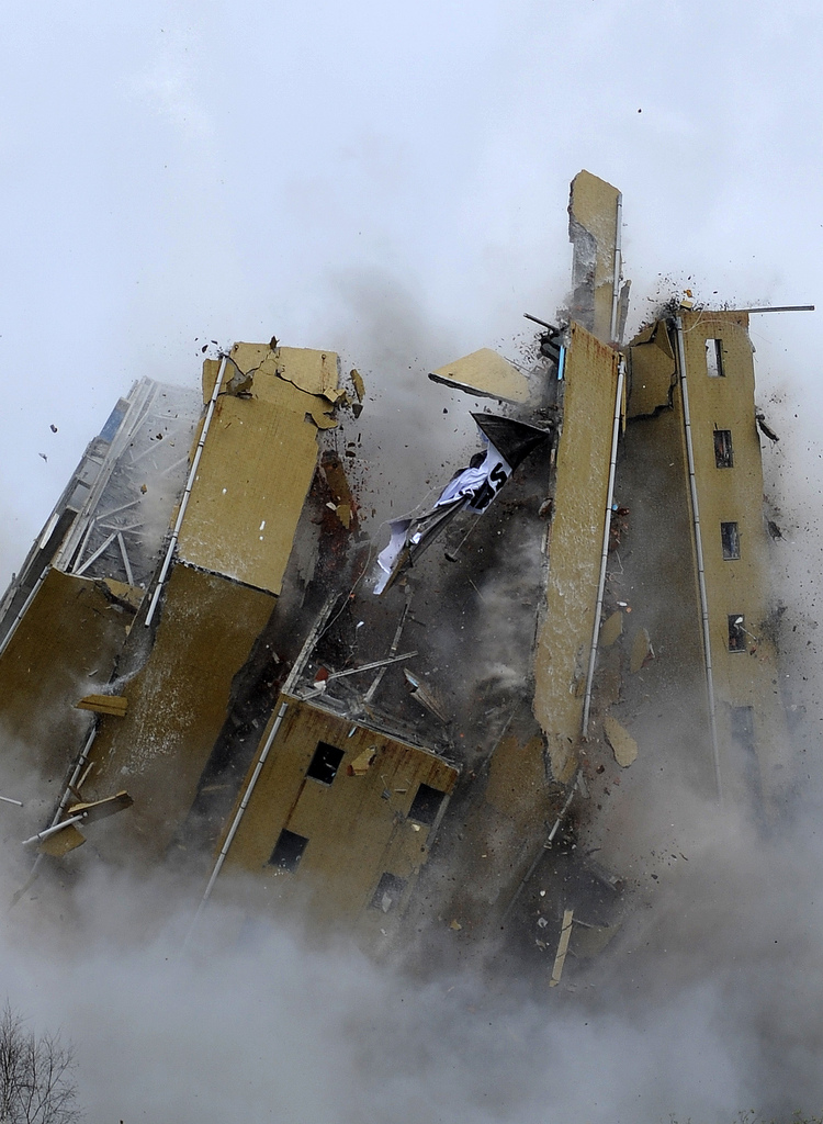 Implosion in Porto, Portugal (Keystone/AP Photo/Paulo Duarte)