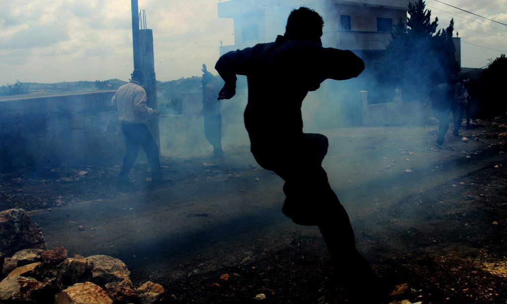 Proteste in Nablus, West Bank (Keystone/EPA/Alaa Badarneh)