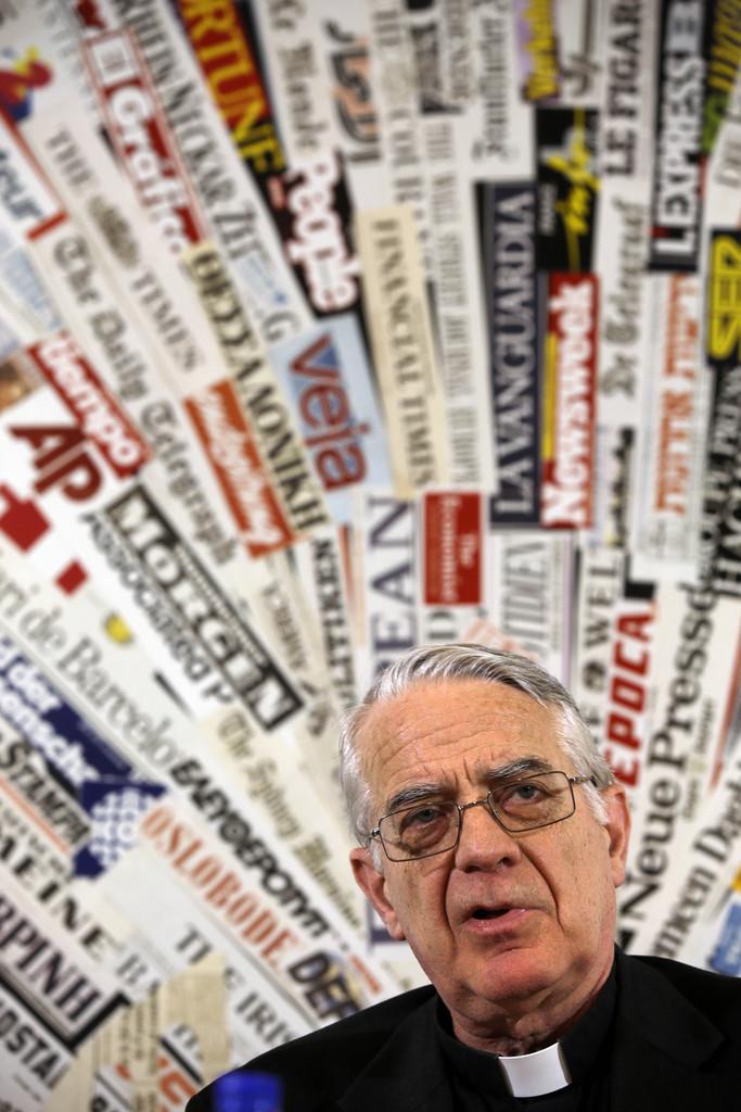 Der Pressesprecher des Vatikans, Federico Lombardi, in Rom, Italien (Keystone/AP Photo/Gregorio Borgia)