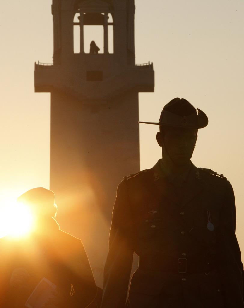 Gedenken an die Dardanellen-Schlacht in Villers-Bretonneux, Frankreich (Keystone/AP Photo/Michel Singler)