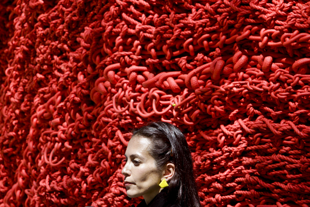 Orly Gender und ihre Installation in New York, USA (Keystone/AP Photo/Bebeto Matthews)