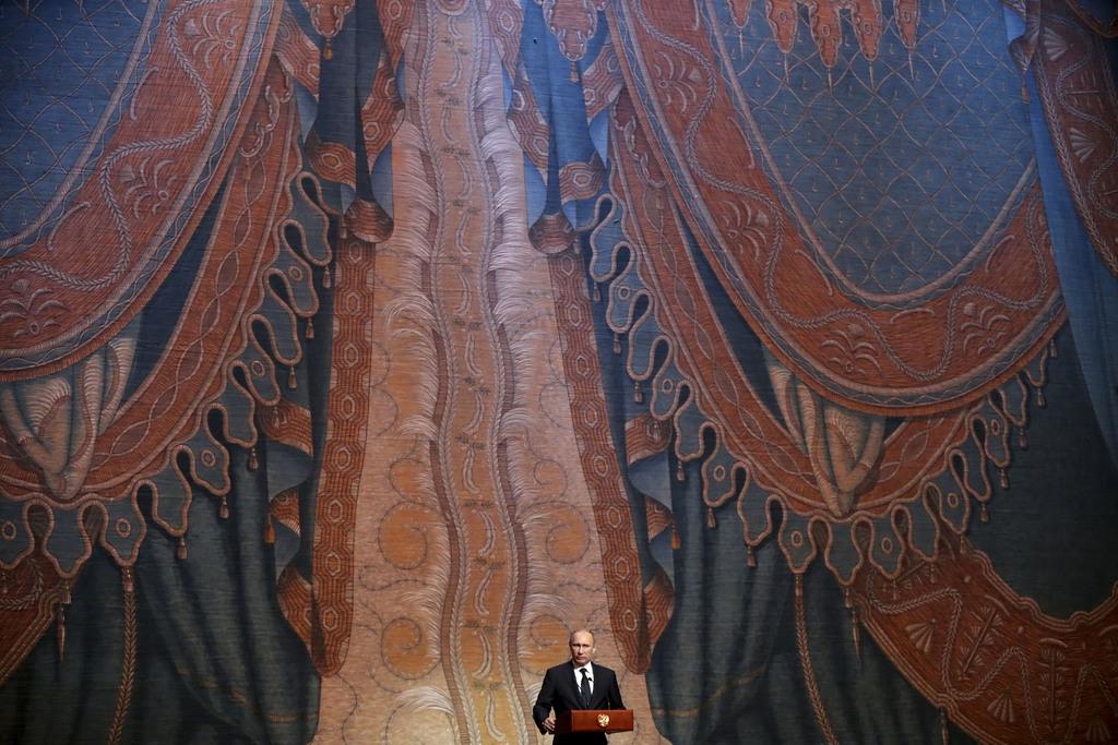 Eröffnung der neuen Bühne des Mariinsky Theaters in St. Petersburg, Russland (Keystone/AP Photo/Anatoly Maltsev, Pool)