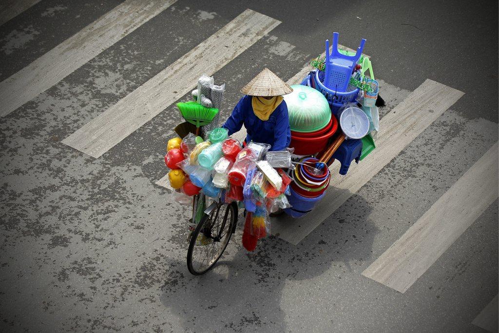 Auf den Straßen von Hanoi, Vietnam (Keystone/EPA/Luong Thai Linh)