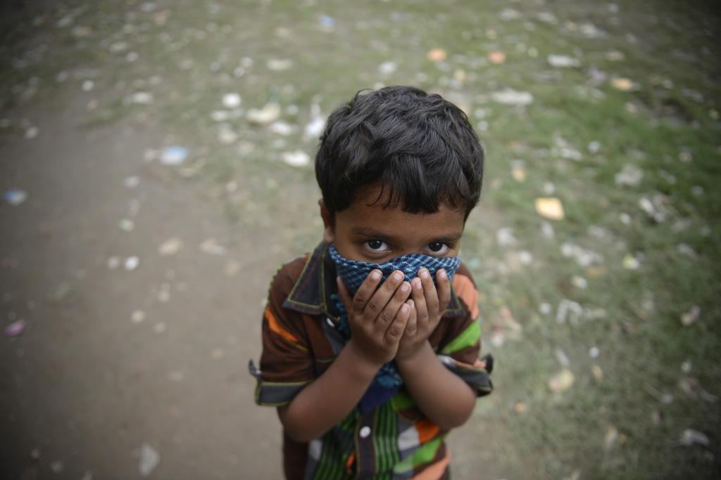 Kinderportrait aus Dhaka, Bangladesh (Keystone/AP Photo/Ismail Ferdous)