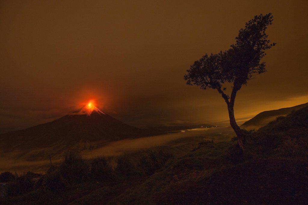 Ausbruch des Tungurahua in Cotalo, Ecuador (Keystone/EPA/Jose Jacome)