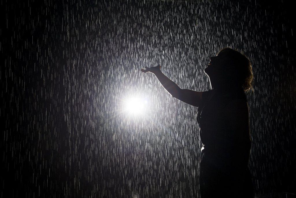 Installation «Rain Room» in New York, USA (Keystone/EPA/Justin Lane)