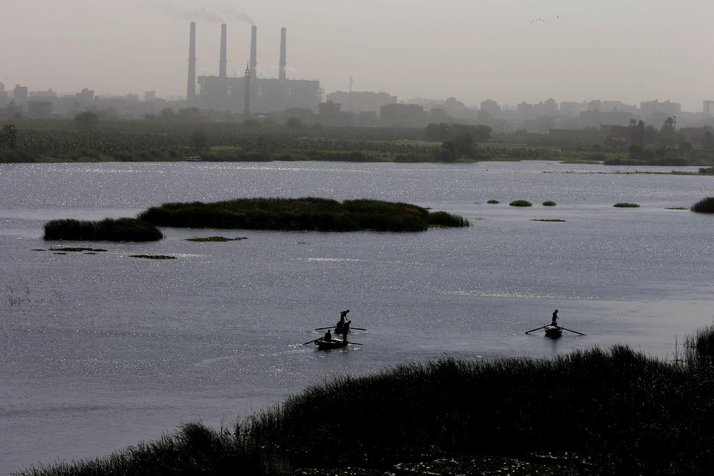Fischer auf dem Nil, nördlich von Kairo, Ägypten (AP Photo/Hassan Ammar)