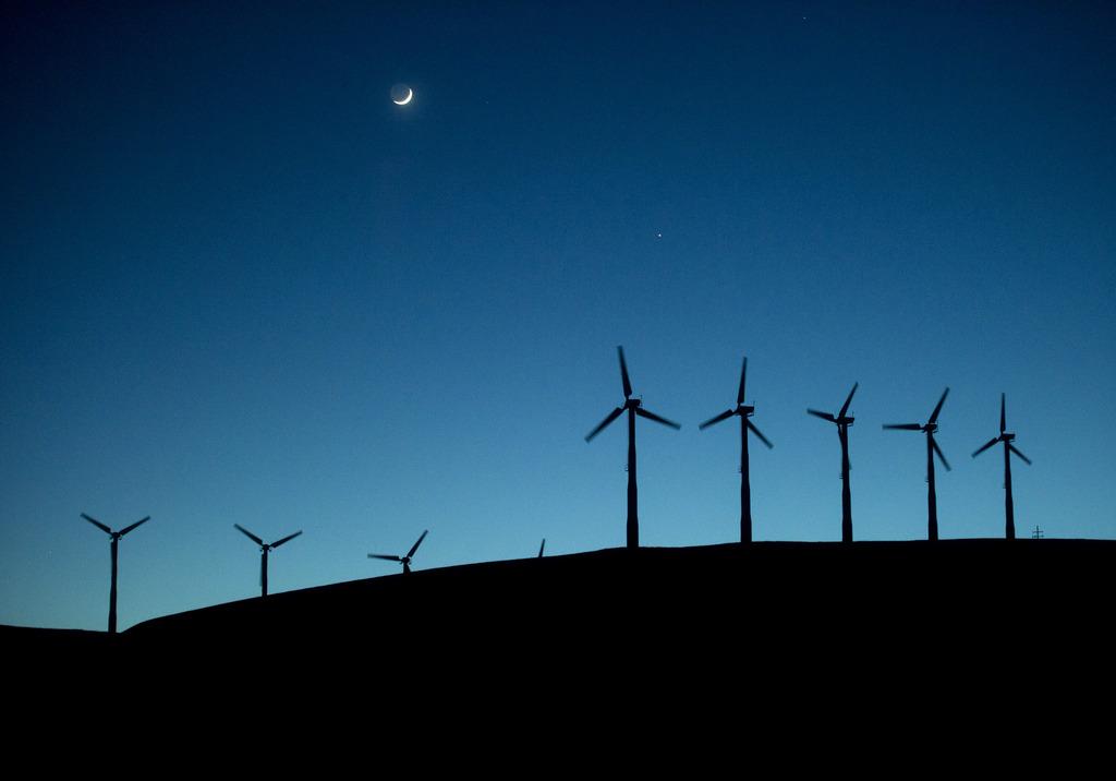 Windräder, Altamont Pass, Kalifornien USA (AP Photo/Noah Berger)