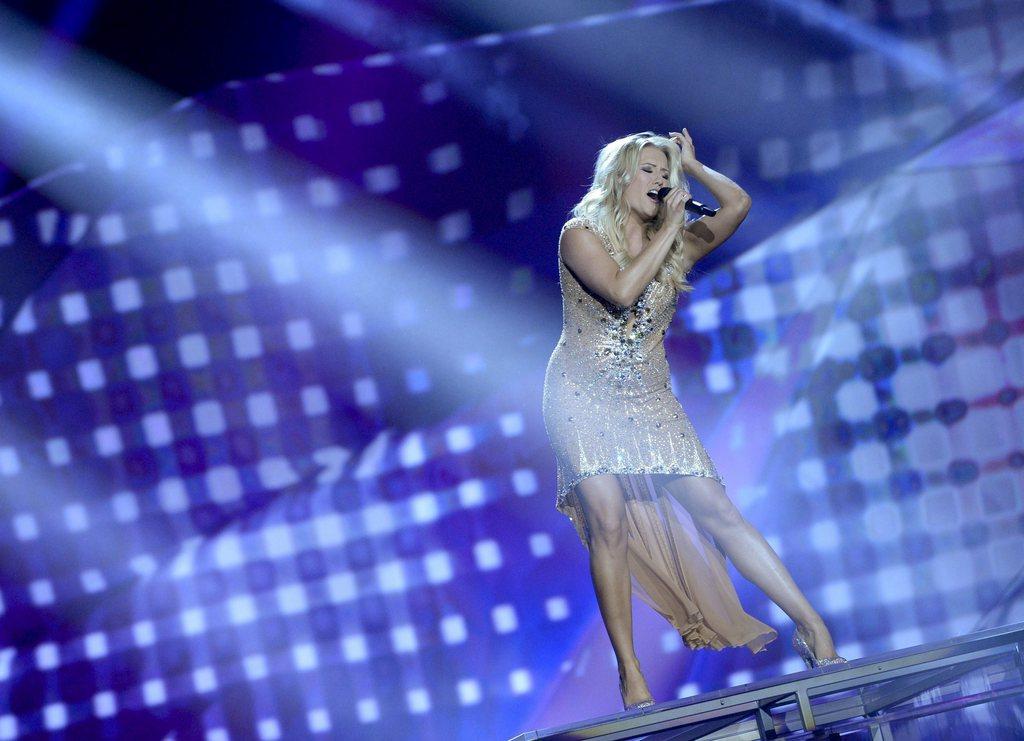 Natalie Horler bei den Proben zum Eurovision Song Contest in Malmö, Schweden (Keystone/EPA/Janerik Henriksson)