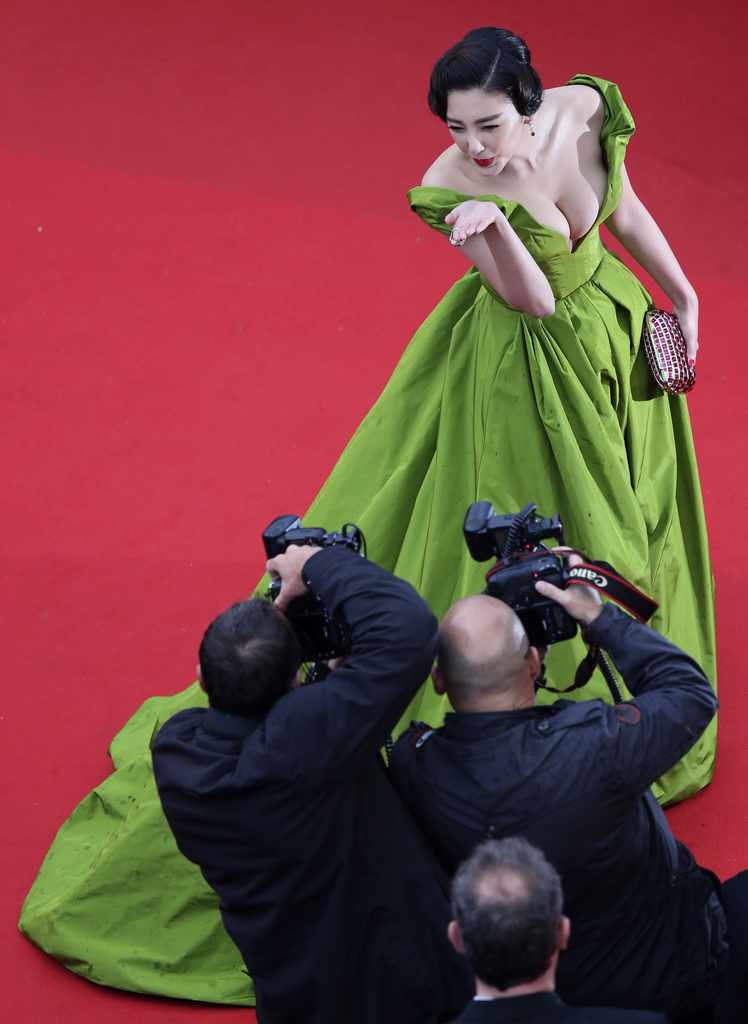 Zhang Yuqi in Cannes, Frankreich (Keystone/AFP Photo/Loic Venance)