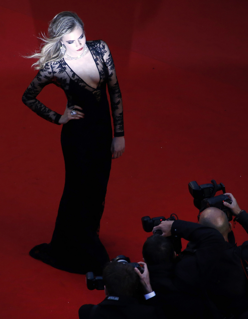 Cara Delevingne in Cannes, Frankreich (Keystone/AFP Photo/Loic Venance)