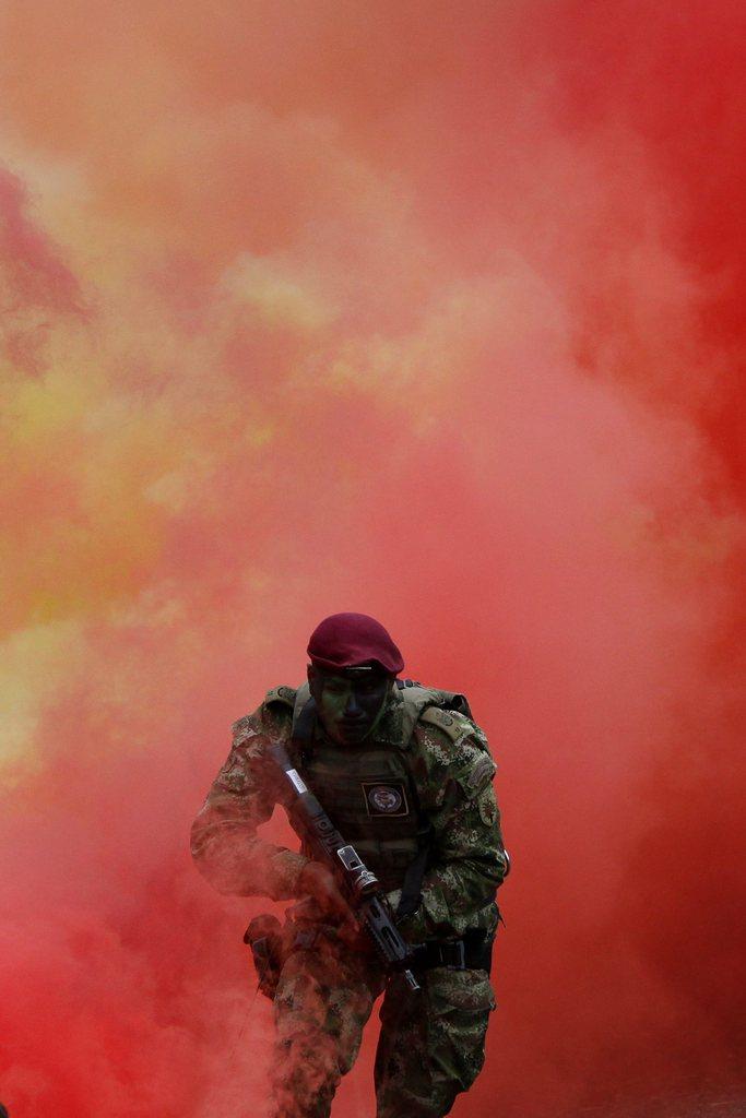 Übung von Spezialeinheiten in Cali, Kolumbien (Keystone/EPA/Christian Escobar Mora)
