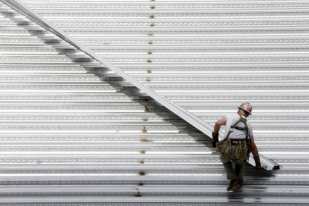 Bauarbeiter in Philadelphia, USA (Keystone/AP Photo/Matt Rourke)