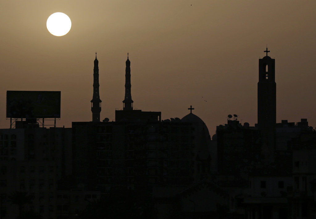 Sonnenaufgang in Kairo Ägypten (AP Photo/Kevin Frayer)