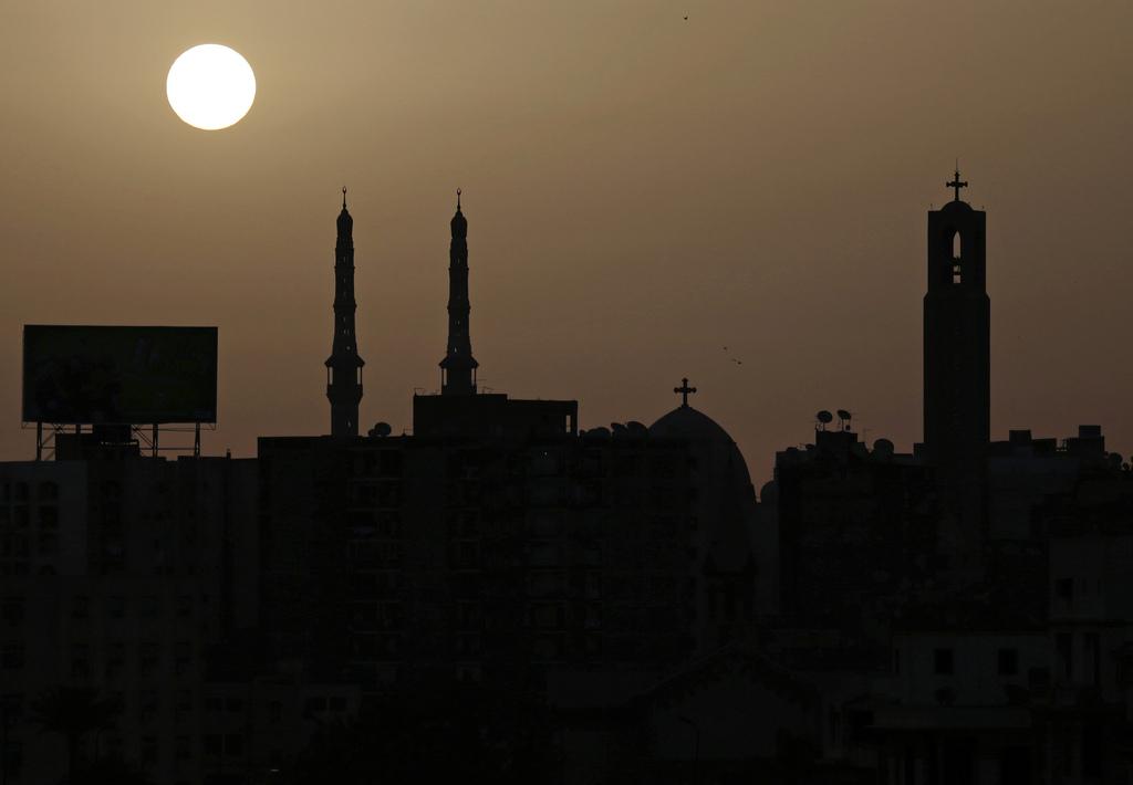 Sonnenaufgang in Kairo Ägypten (AP Photo/Kevin Frayer)