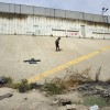 Obdachloser am Grenzwall zwischen Mexiko und den USA EPA/DAVID MAUNG