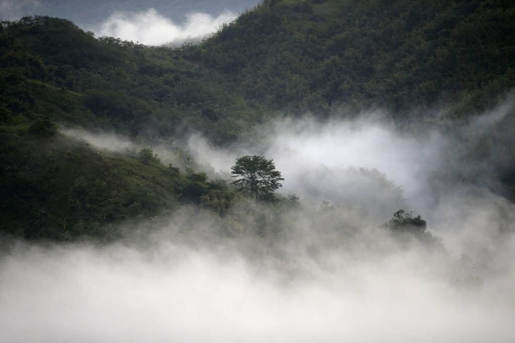 Wolkenlandschaft auf den Phillippinen etwa 50km östlich von Manila (AP Photo/Bullit Marquez)