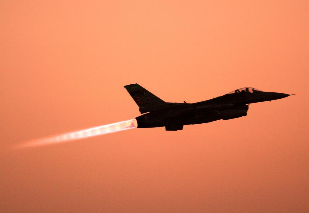 US-Jet über Baghdad, Irak (Keystone/AP Photo/Maya Alleruzzo)