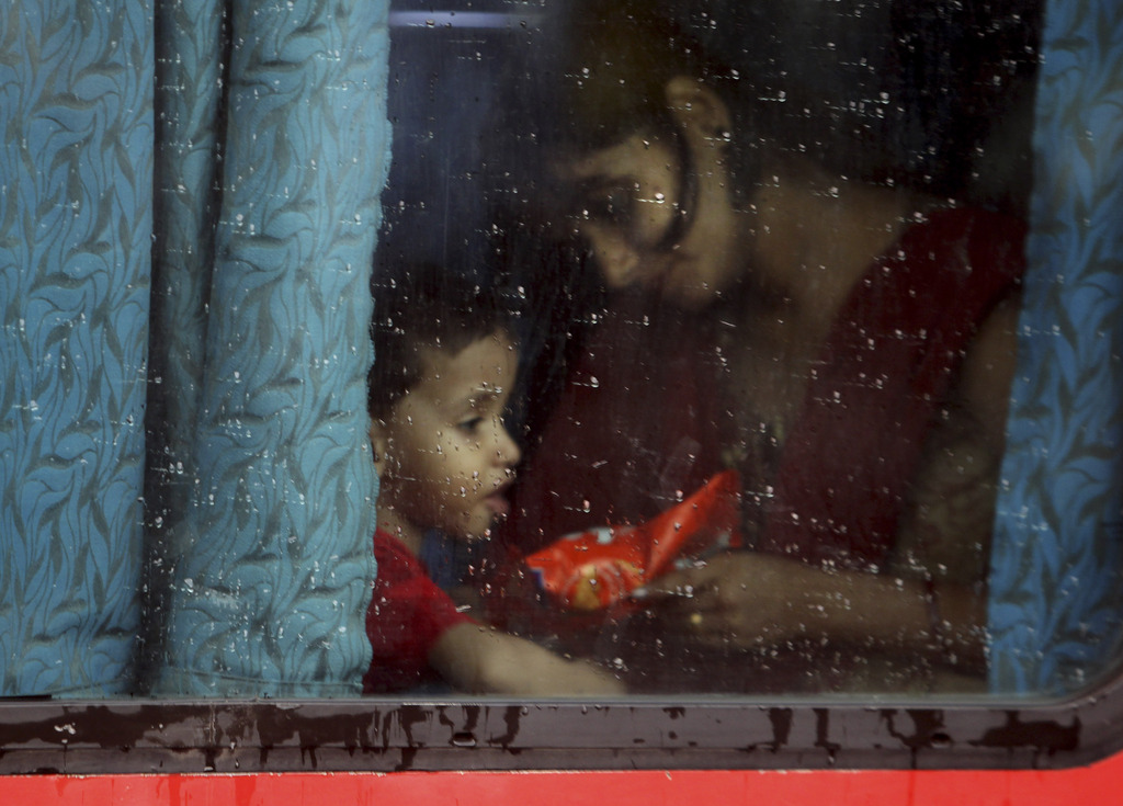 Madonnenbild aus dem Alltag in Neu Delhi, Indien (Keystone/AP Photo/Tsering Topgyal)