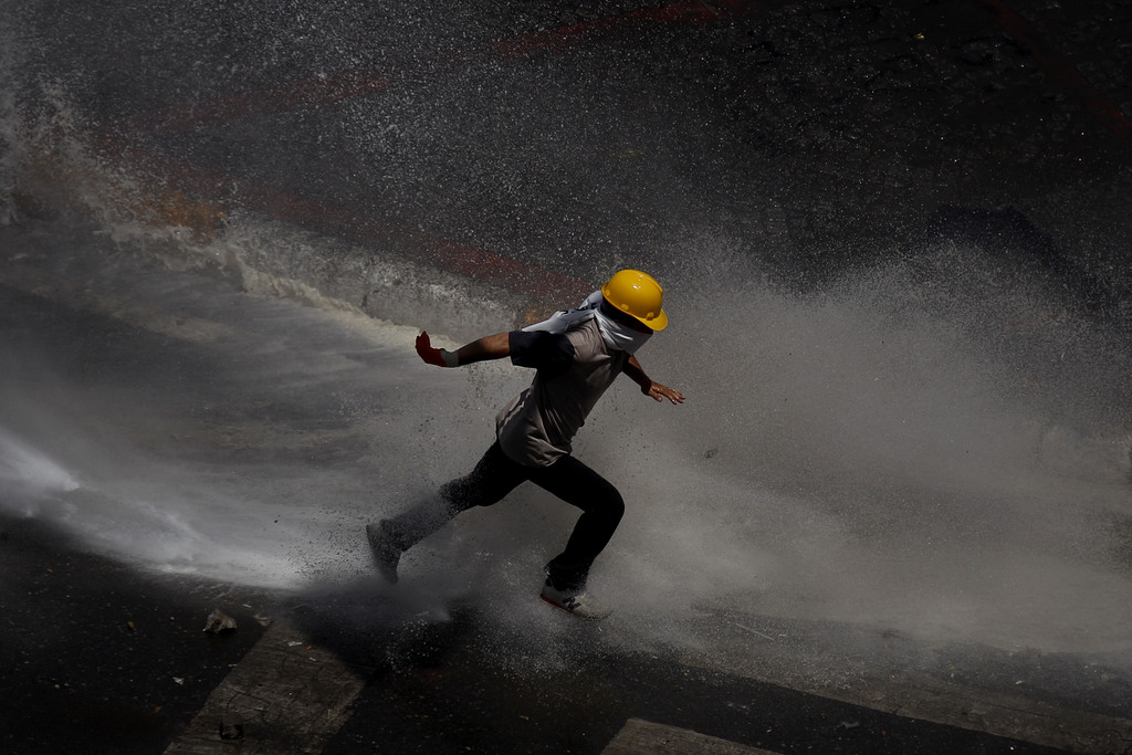 Proteste in Istanbul (AP Photo/Kostas Tsironis)