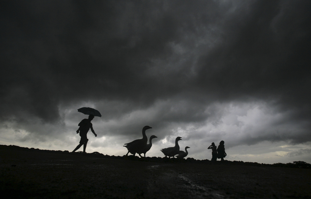 Monsun in Bhubaneswar, Indien (Keystone/AP Photo/Biswaranjan Rout)