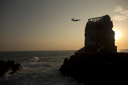 Sprung von der Klippe vor Mazatlan, Mexiko (Keystone/AP Photo/Dario Lopez-Mills)