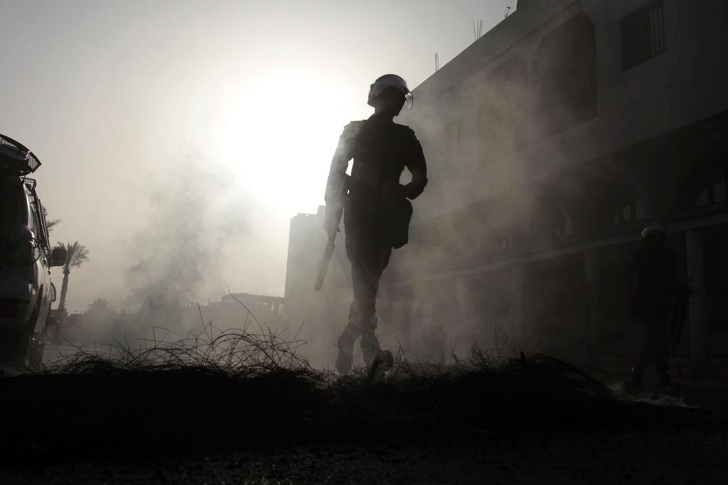 Polizist in Jidhafs, Bahrain (Keystone/AP Photo/Hasan Jamali)