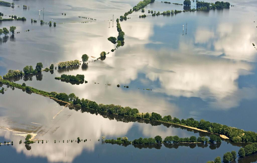 Hochwasser bei Tangermünde, Deutschland (Keystone/AP Photo/Jens Meyer)