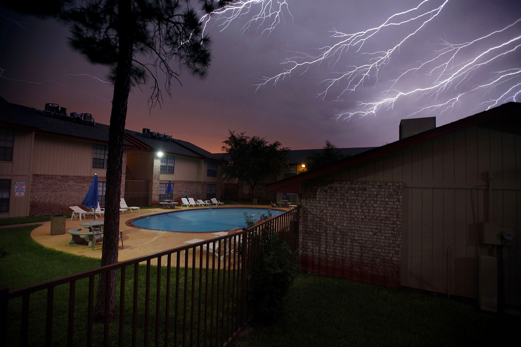 Gewittersturm in Odessa, Texas USA (AP Photo/Odessa American, Edyta Blaszczyk)