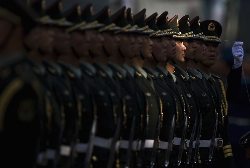 Ehrengarde in Beijing, China (Keystone/AP Photo/Andy Wong)