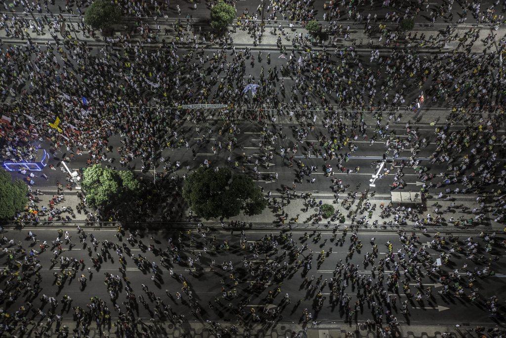 Unruhen in Rio de Janeiro, Brasilien (Keystone/EPA/Oliver Weiken)