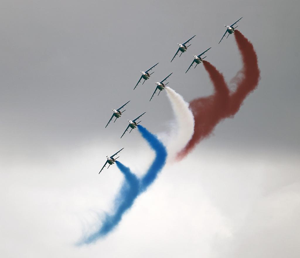 Luftfahrtshow vor den Toren von Paris, Frankreich (Keystone/AP Photo/Remy de la Mauviniere)