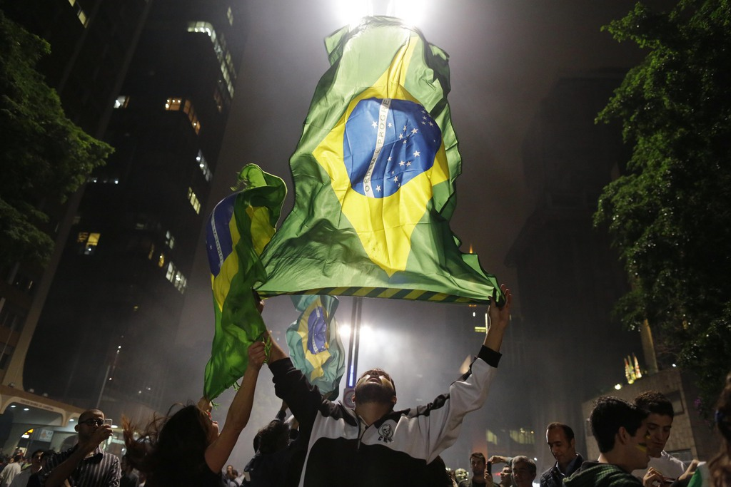 Proteste in Sao Paulo, Brasilien (Keystone/AP Photo/Nelson Antoine)