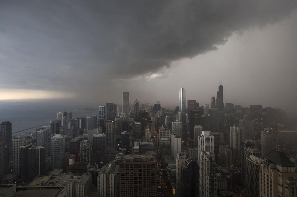 Gewitter über Chicago, USA (AP Photo/Scott Eisen)