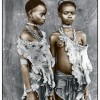 Meisa & Bona (13), Hamer Tribe, Ethiopia 2008, Silver Gelatin Print, toned, Edition of 10, 50 x 60 cm, 77 x 86 cm © Jan C. Schlegel / Courtesy of Bernheimer Fine Art Photography
