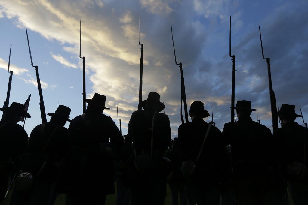 Nachspiel der historischen Schlacht von Gettysburg  vor 150 Jahren, USA (AP Photo/Matt Rourke)