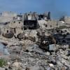 Zerstörung in Aleppo Syrien, ein Bürgerjournalistenfoto (AP Photo/Aleppo Media Center AMC)