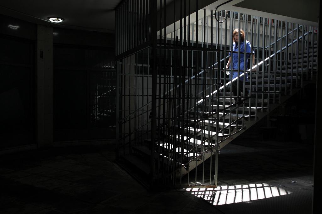 Treppe in Athen Griechenland (AP Photo/Petros Giannakouris)
