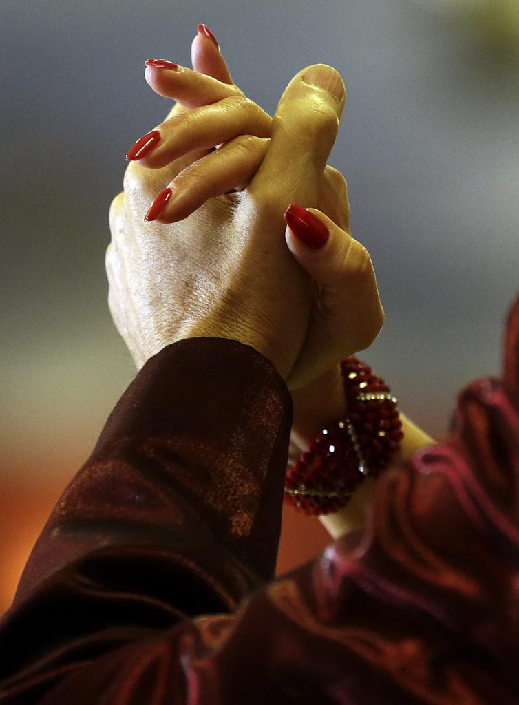 Tangotänzer in Rom, Italien (Keystone/AP Photo/Gregorio Borgia)