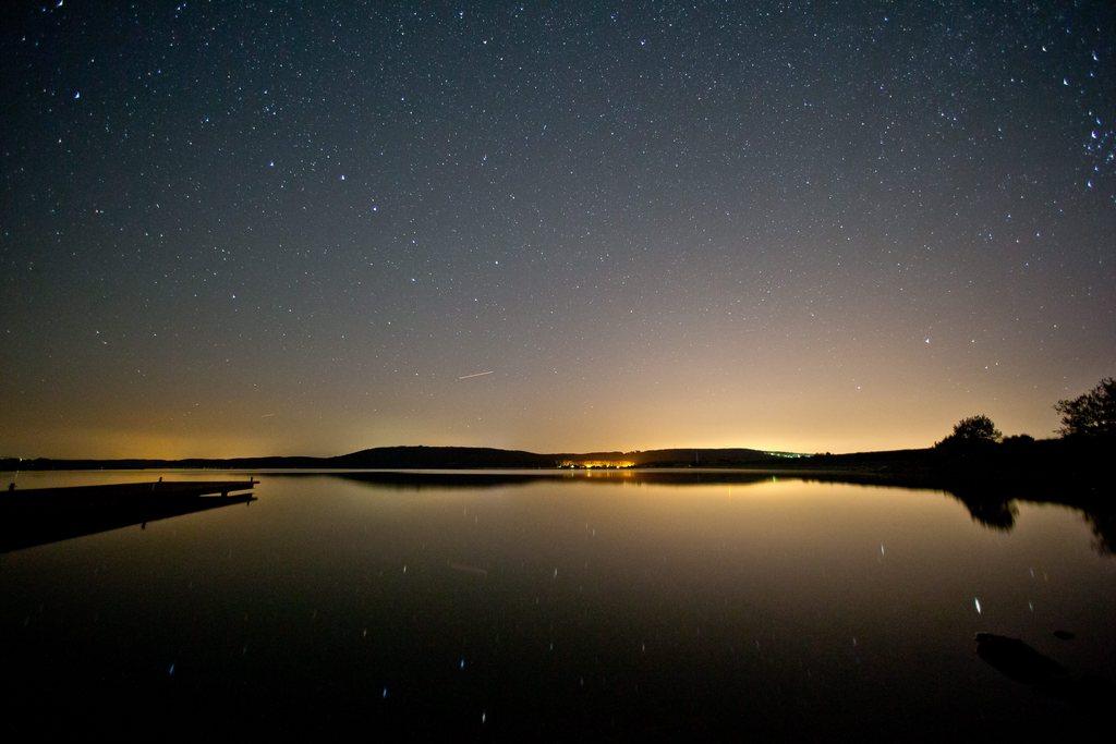 Sommernacht und Sterne am Brombachsee D EPA/DANIEL KARMANN