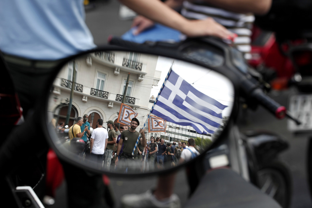 Demonstrationen in Athen, Griechenland (Keystone/AP Photo/Petros Giannakouris)