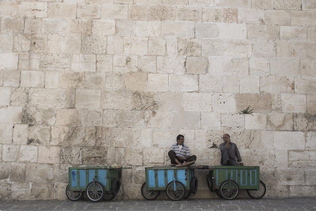 Händler in der Altstadt von Jerusalem (Keystone/EPA/Abir Sultan)