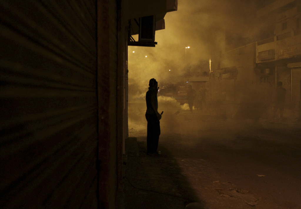 Am Rande von Demonstrationen in Diraz, Bahrain (Keystone/AP Photo/Hasan Jamali)