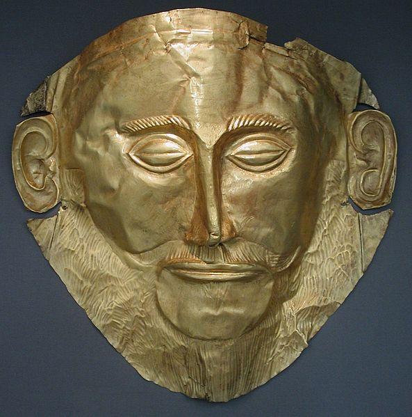 Totenmaske des Agamemnon (Quelle: Wikipedia)