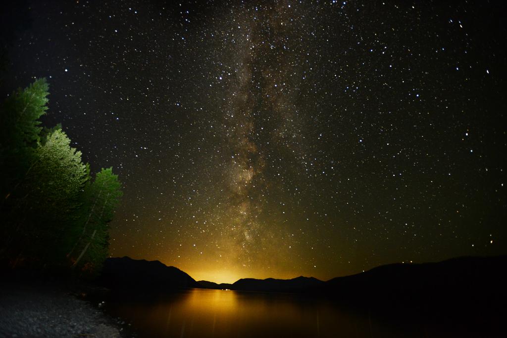 Milchstraße im Glacier-Nationalpark in Montana (AP/Daily Inter Lake, Brenda Ahearn)