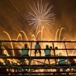 Serie Ländliche Jahrmärkte und Messen in Iowa - hier: Feuerwerk, Delaware County Fair in Manchester EPA/JIM LO SCALZO