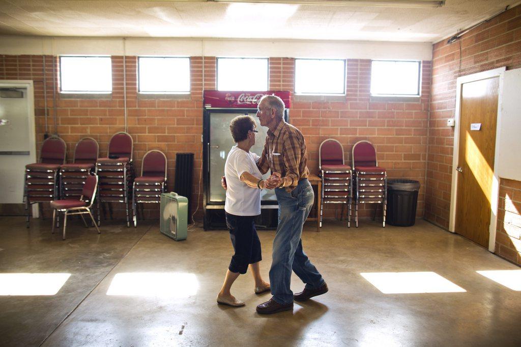 Serie Ländliche Jahrmärkte und Messen in Iowa - hier:  Polka bei der Floyd County Fair in Charles City EPA/JIM LO SCALZO